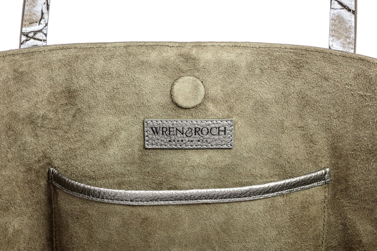 Wren & Roch Best Friend Tote - Inspire interior single pocket with logo