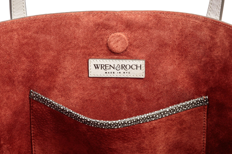 Wren & Roch Best Friend Tote - Soar interior single pocket and logo with lining
