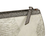 Wren & Roch Street Smart Clutch - Full Moon zipper