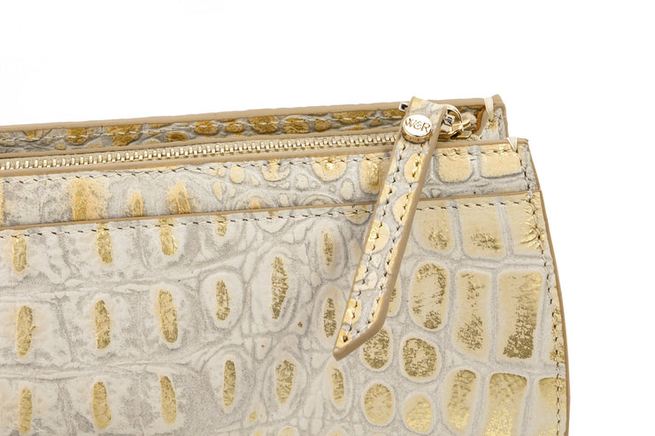 Wren & Roch Street Smart Clutch - Sun Kissed zipper