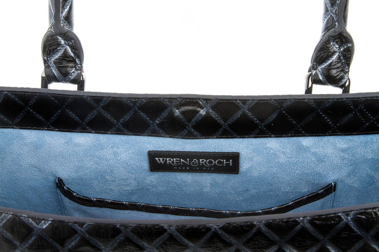 Wren & Roch Amazing Grace Handbag - Quilted Queen interior pocket with W&R logo