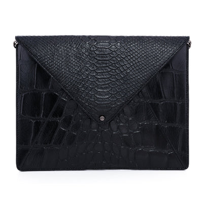 Wren & Roch Love Note Crossbody Clutch - Power front view