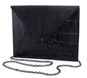 Wren & Roch Love Note Crossbody Clutch - Power front view with chain strap