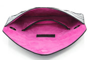 Wren & Roch Love Note Crossbody Clutch - Power interior view laying down with pocket and lining