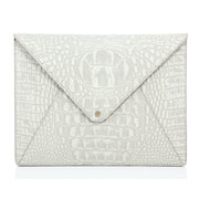 Wren & Roch Love Note Crossbody Clutch - Purity front view