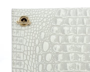 Wren & Roch Love Note Crossbody Clutch - Purity rear chain strap detail