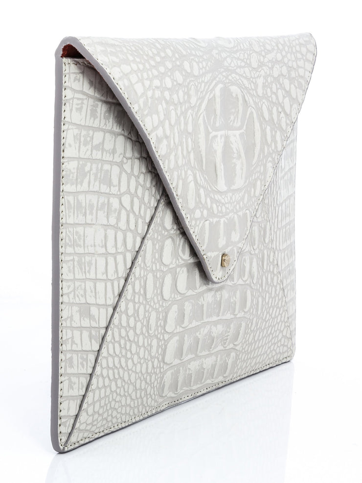 Wren & Roch Love Note Crossbody Clutch - Purity side view
