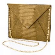 Wren & Roch Love Note Crossbody Clutch - Prize front view with chain strap
