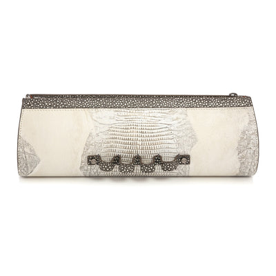 Wren & Roch Street Smart Clutch - Full Moon front view