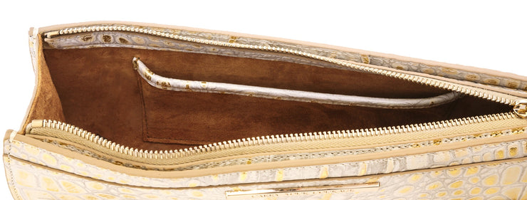 Wren & Roch Street Smart Clutch - Sun Kissed interior with pocket
