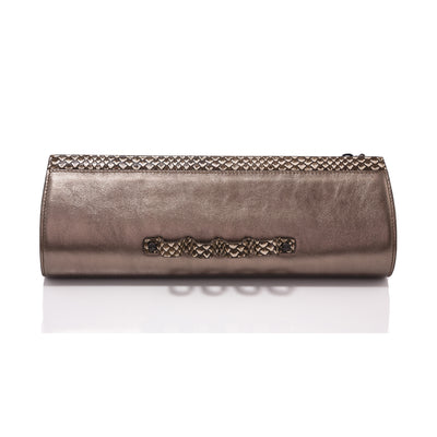Wren & Roch Street Smart Clutch - Rattle & Roll front view