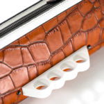 Wren & Roch Street Smart Clutch - B**** is the New Black knuckle detail