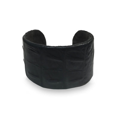 Wren & Roch Leather Cuff - Black front view