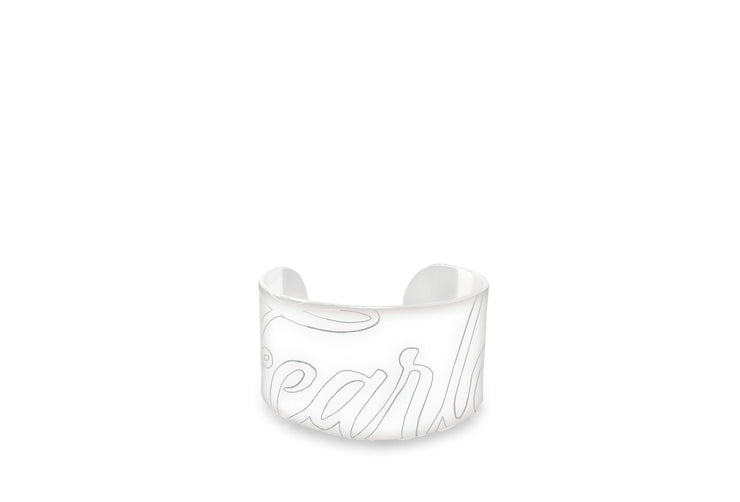Wren & Roch Fearless Cuff - White front view