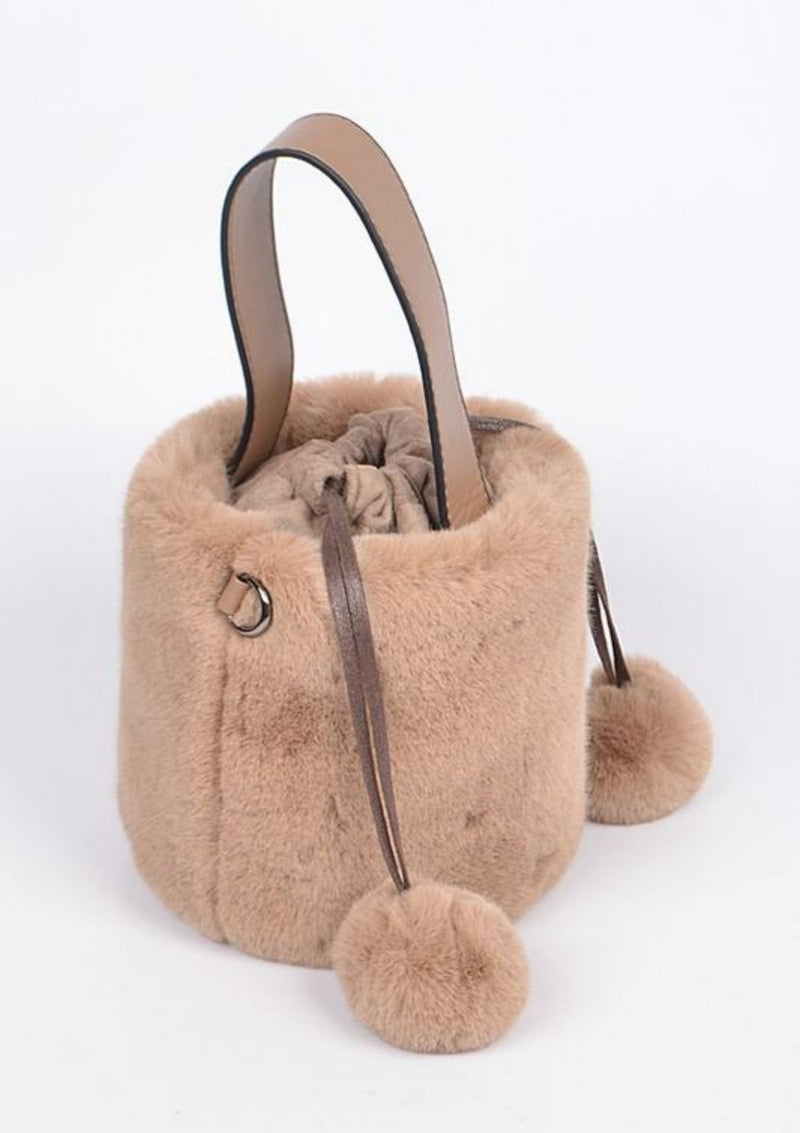 Fur Soft Handbag with Handle - GlamLusH Boutique