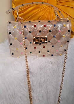 Multi Color Studded Jelly Clutch - GlamLusH Boutique