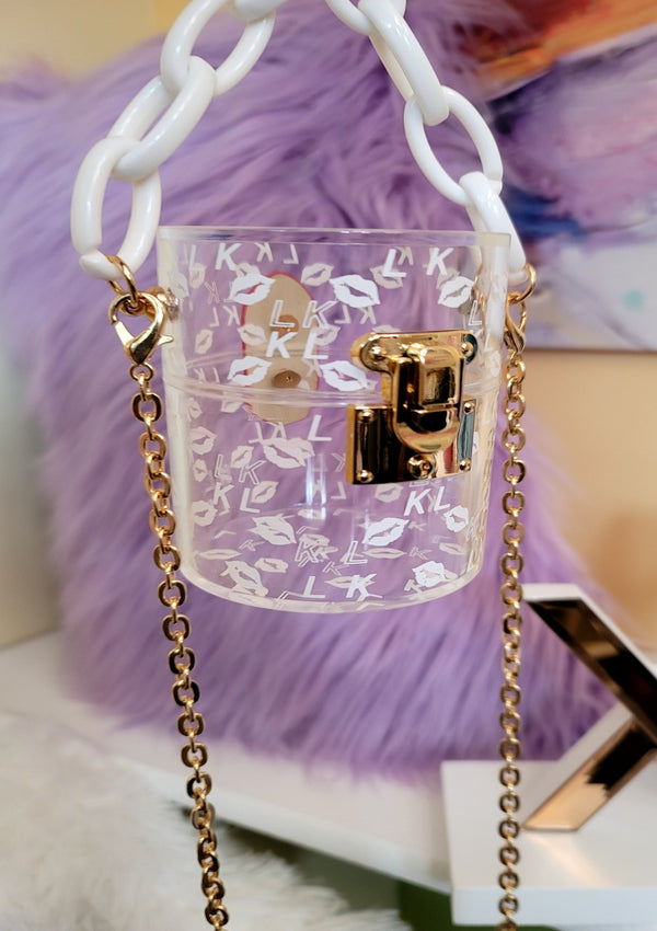 Teaser Mini Clear Chain Bag - GlamLusH Boutique