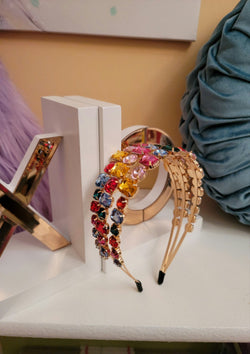 Cinderella Multi-Colored  Rhinestone Headband - GlamLusH Boutique
