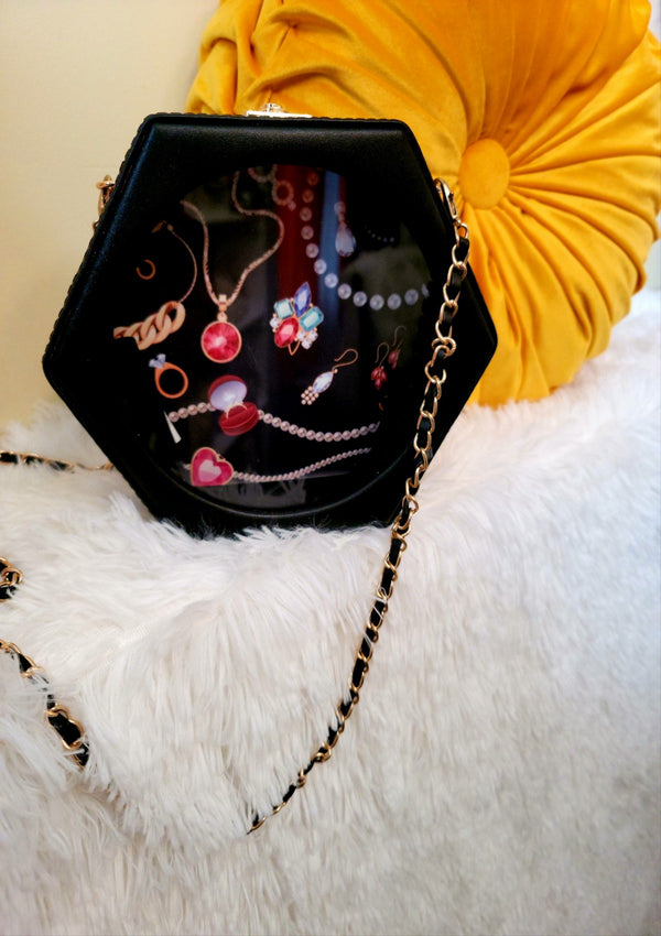 Polygon Jewelry Shoulder Bag - GlamLusH Boutique