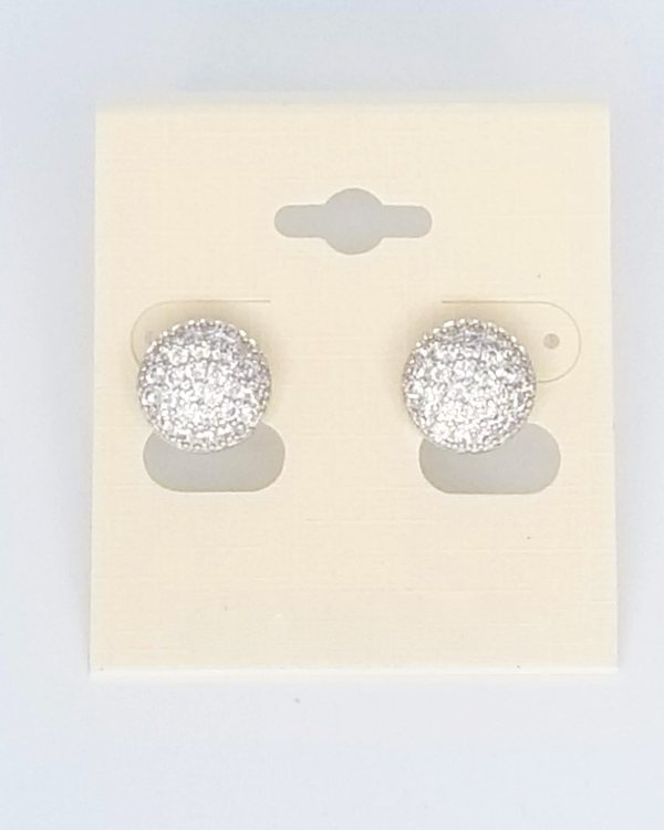 Rhinestone round Stud Earrings - GlamLusH Boutique