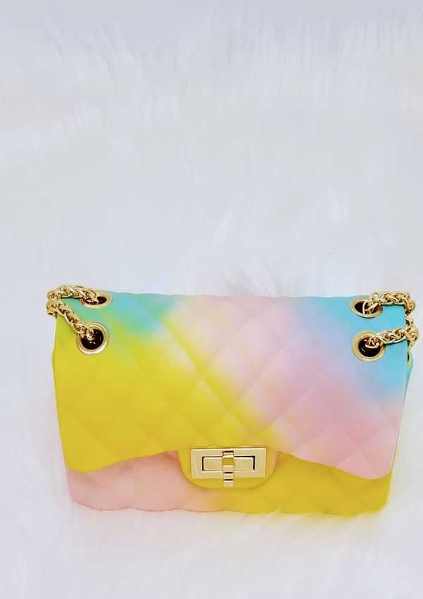 Rainbow Jelly Bag - GlamLusH Boutique