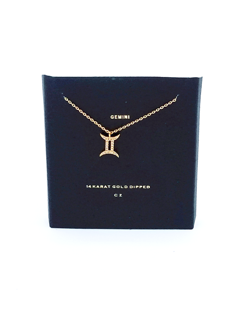 Gemini Charm Necklace - GlamLusH Boutique