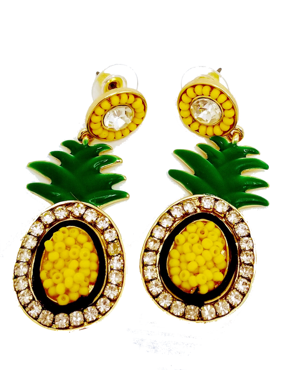 Pineapple Earrings - GlamLusH Boutique