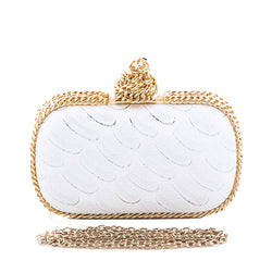 The Unthinkable Touch Gold Chain Accent Clutch - GlamLusH Boutique
