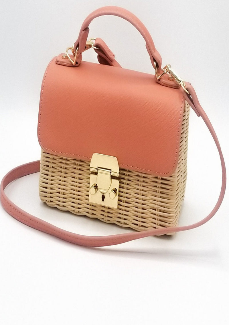 Hey Dear Two-Tone Peach Shoulder Bag - GlamLusH Boutique