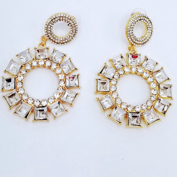 Rhinestone Drop Earrings - GlamLusH Boutique