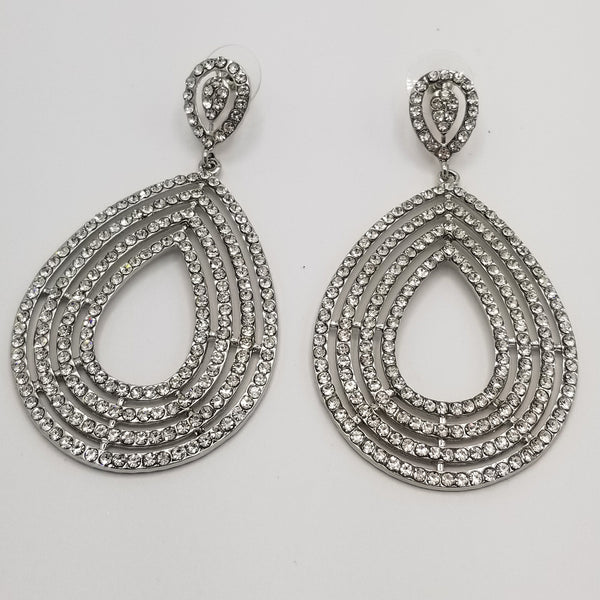 Zoe Chic Rhinestone Drop Earrings - GlamLusH Boutique