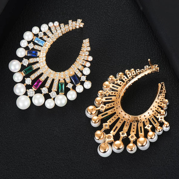 Trendy Bohemia Pearl Earrings - GlamLusH Boutique