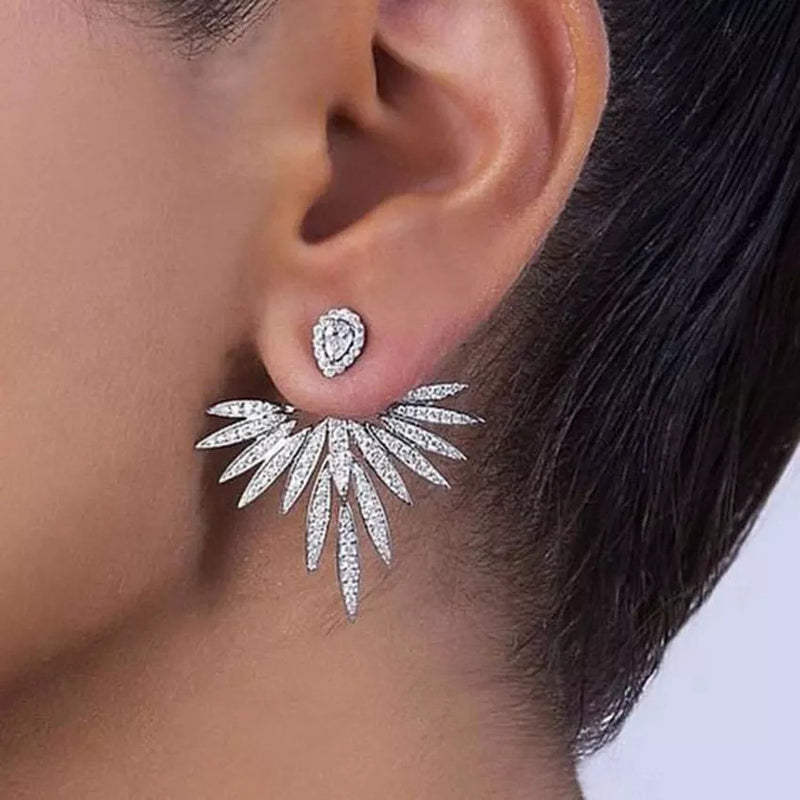 Luxury Trendy Lotus Flower Earrings - GlamLusH Boutique