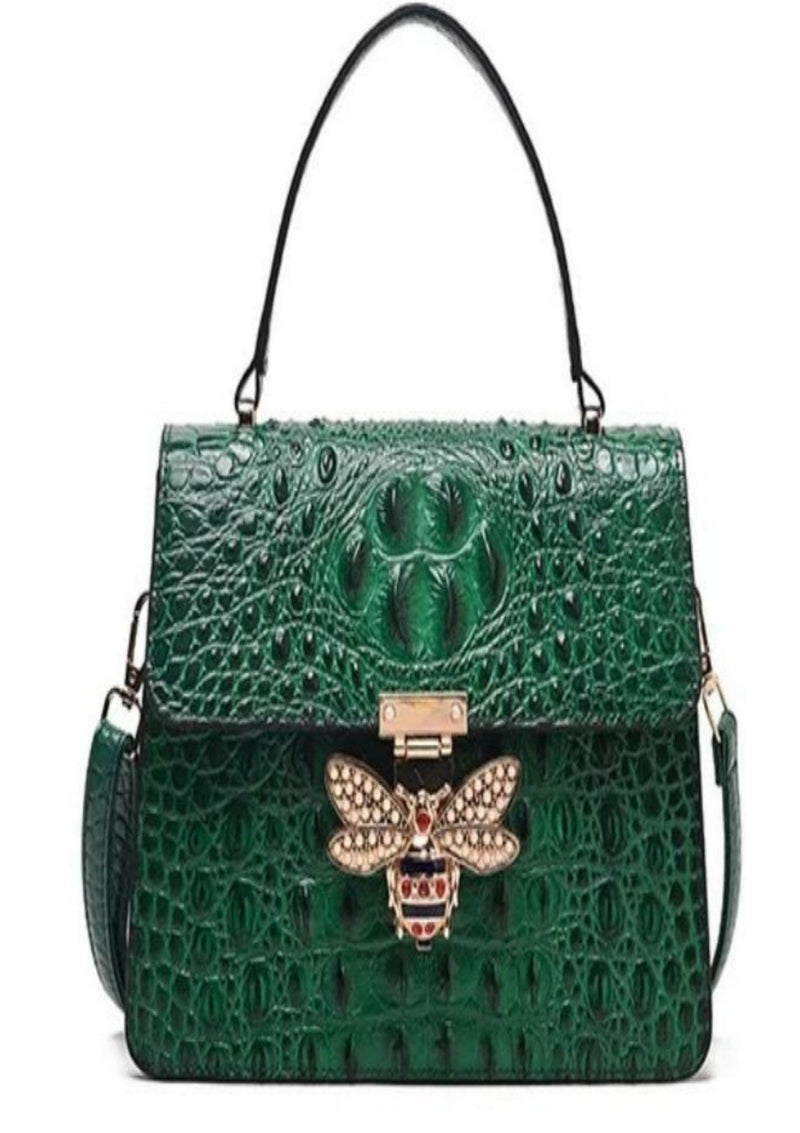 I am feeling Bossy Crocodile Shoulder Bag - GlamLusH Boutique