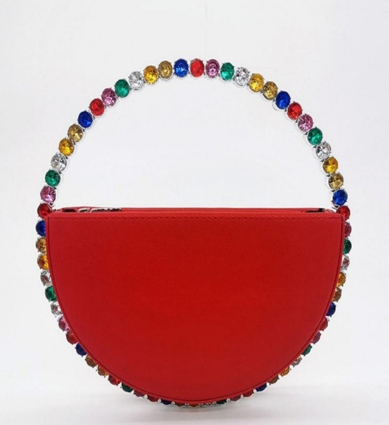 Multi-Color Diamond Circular Clutch Bag - GlamLusH Boutique
