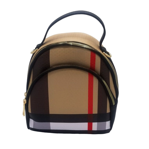 Tartan Plaid Convertible BackPack Satchel - GlamLusH Boutique