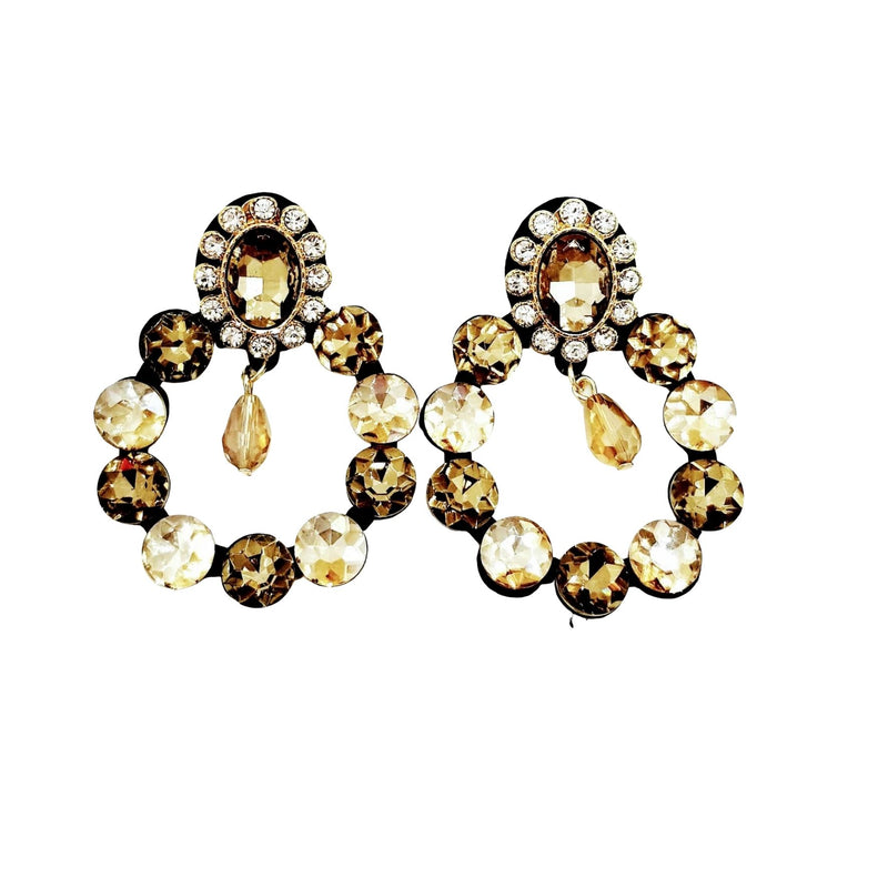 Chic Multi Rhinestone Drop Earrings - GlamLusH Boutique