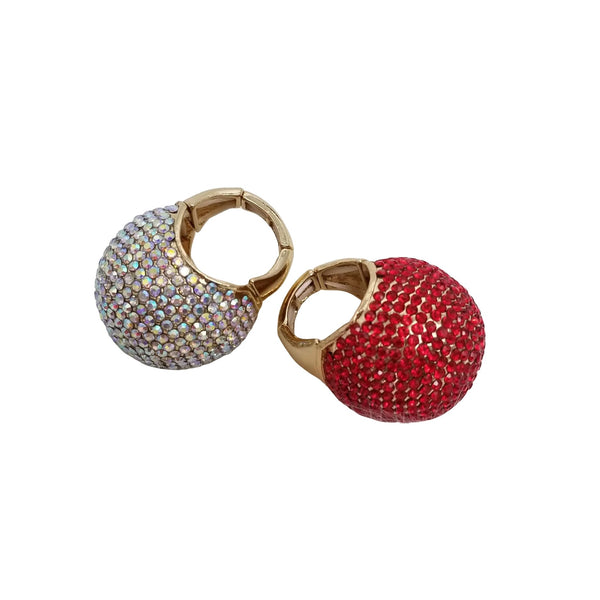 Rhinestone Stretch Ring - GlamLusH Boutique