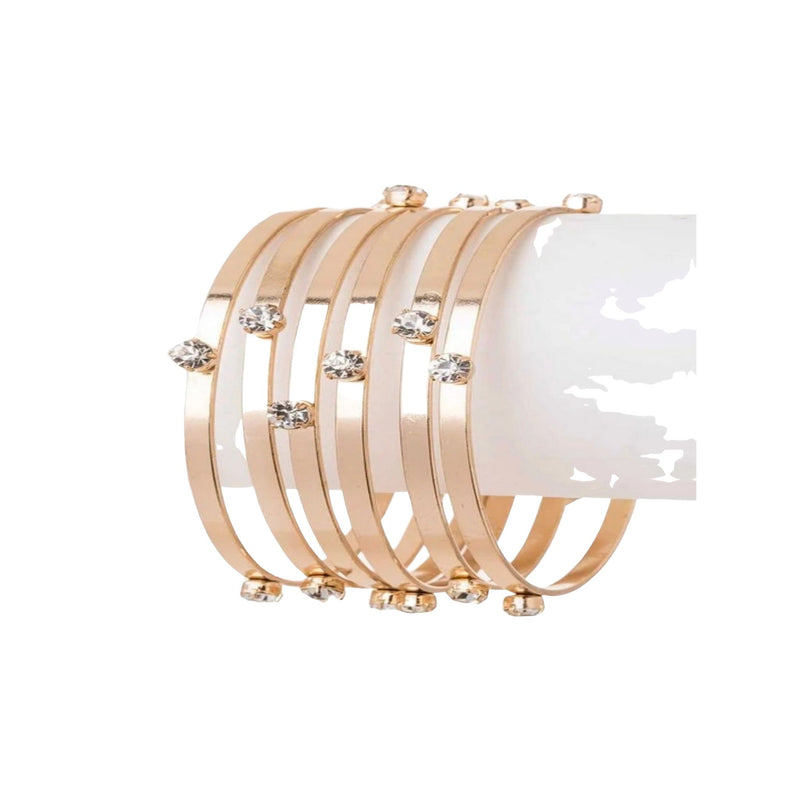 Crystal Bangle Set - GlamLusH Boutique