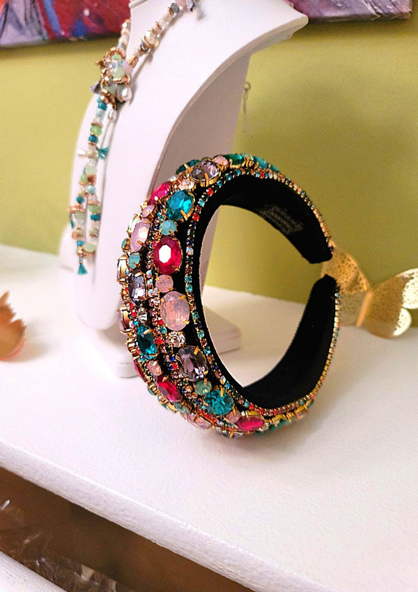 CHIC MULTI RHINESTONE ACCENT HEAD BAND - GlamLusH Boutique