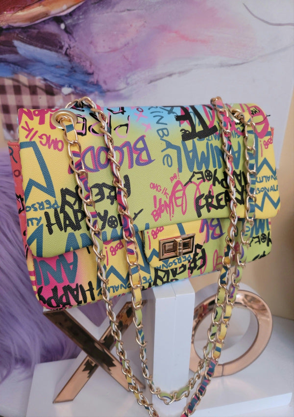 So Hot Graffiti Clutch - GlamLusH Boutique