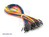"Premium Jumper Wire 50-Piece Rainbow Assortment M-M 30cm (12"")"