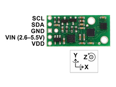 AltIMU-10 v4 Gyro, Accelerometer, Compass and Altimeter (L3GD20H, LSM303D, and LPS25H Carrier)