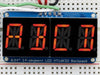 "Adafruit Quad-Alphanumeric-Display - Rot 0,54""  Digits +I2C Backpack"