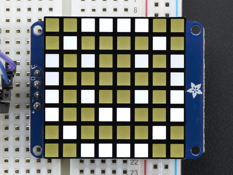 "Adafruit Small 1,2"" 8x8 Ultra Bright Square White LED Matrix + Backpack"
