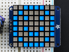 "Adafruit Kleine 1,2"" 8x8 Ultra-Helle Quadaratische Blaue LED Matrix + Backpack"