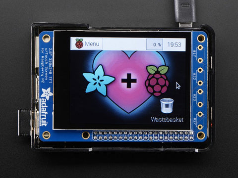 "Adafruit PiTFT Plus 320x240 2.8"" TFT + Kapazitiver Touchscreen Kit - Pi 2 und Model A+ / B+"