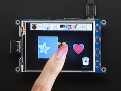 "Adafruit PiTFT Plus 320x240 3.2"" TFT + Resistive Touchscreen - Pi 2 and Model A+ / B+"