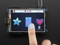 "Adafruit PiTFT Plus 480x320 3.5"" TFT+Touchscreen for Raspberry Pi - Pi 2 and Model A+ / B+"