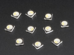 NeoPixel RGBW LEDs w/ Integrated Driver Chip - Warm White - 3000K - Black Casing - 10 Pack